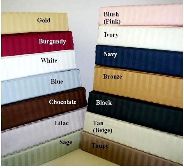 300 TC Egyptian Cotton Stripe Sheet Set - California King