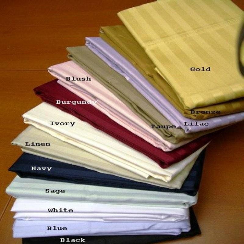 600 TC Egyptian Cotton Stripe Pillow Cases - King Size