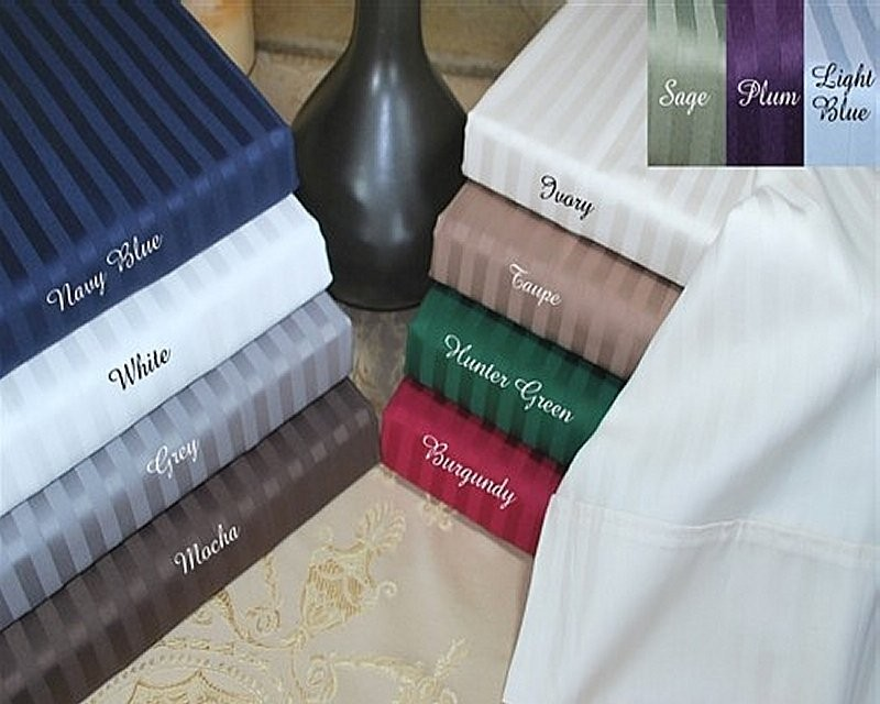 400 TC Egyptian Cotton Stripe Pillow Cases - Standard Size
