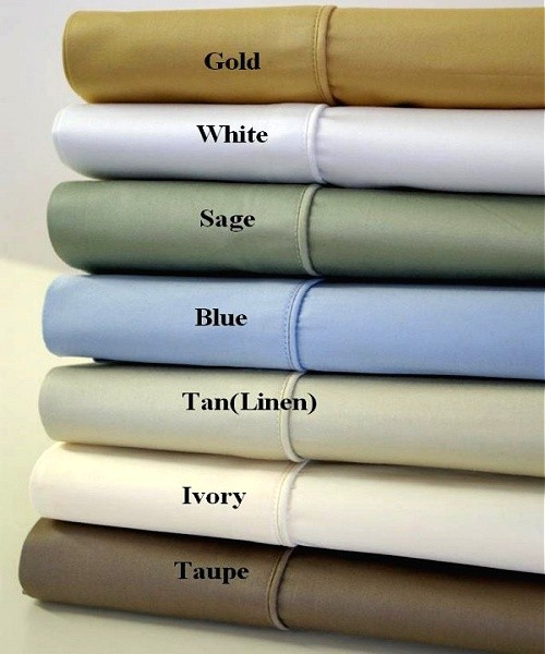 1000 TC Egyptian Cotton Solid Sheet Set - Queen Size