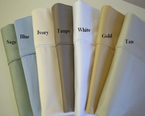 450 TC Egyptian Cotton Solid Pillow Cases - Standard