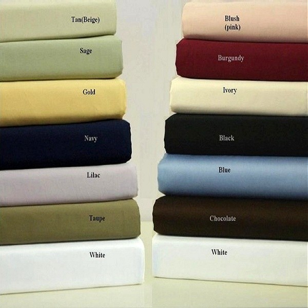 King/Cal King Waterbed Sheets with Pole Attachment- Solid Colors