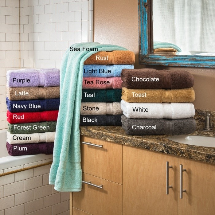 Egyptian Cotton 900 GSM Hand Towels - 4 PC Set