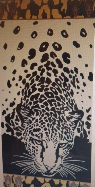Big Cheetah Beach Towel