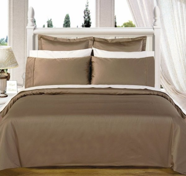 Egyptian Cotton 550TC Comforter Set - Taupe