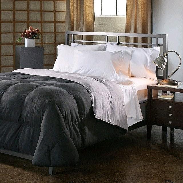 Reversible Down Alternative Comforter - Black/Gray