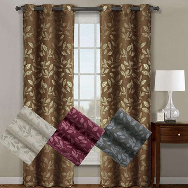 CLAIRE MICRO SUEDE JACQUARD BLACKOUT CURTAIN PANELS