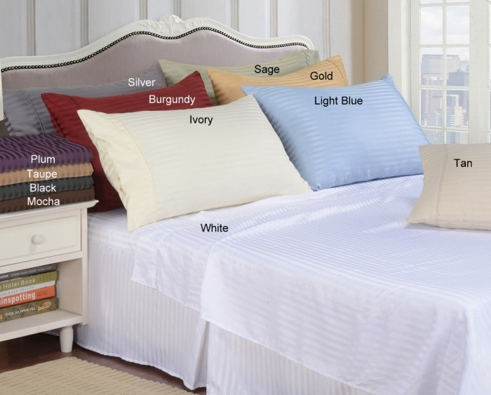 Queen Size Lightweight Microfiber Stripe Sheet Set
