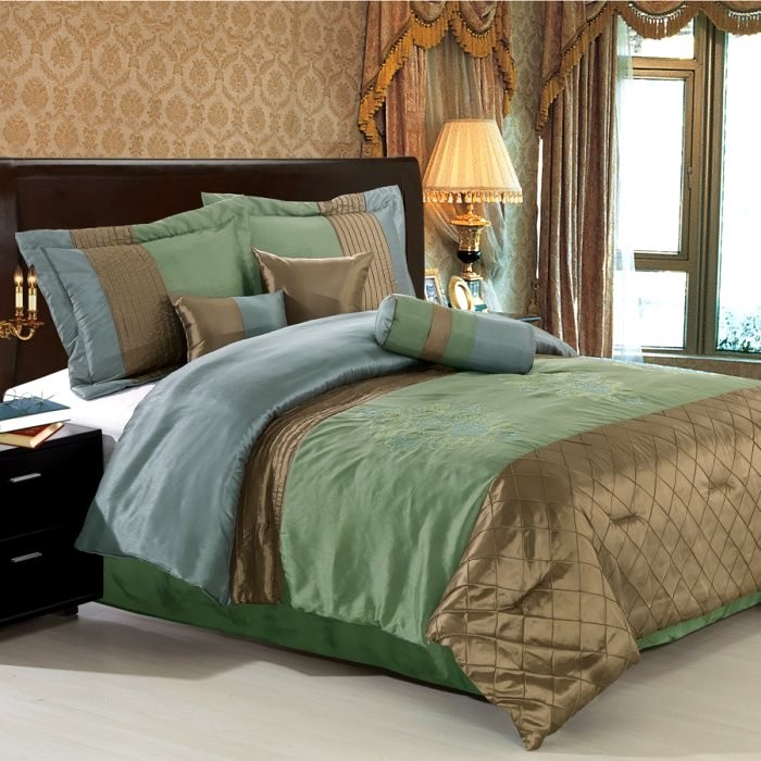 Pacifica 7 Piece Comforter Set - Sage