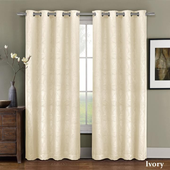 Prairie Blackout Weave Embossed Curtain Panel