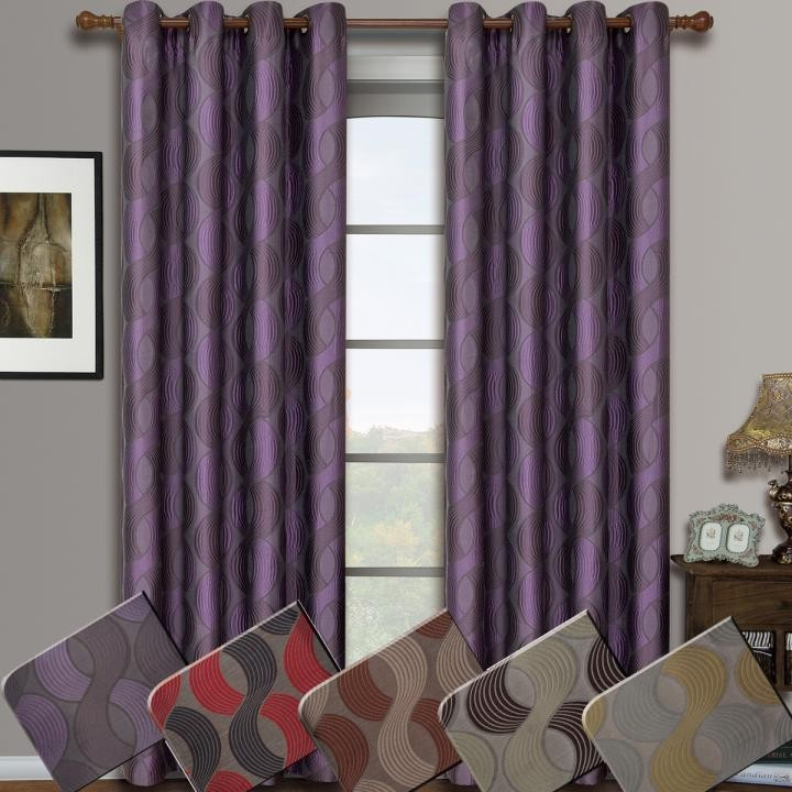 Savanna Jacquard Grommet Window Curtain Panel Pairs
