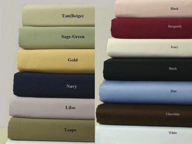 300 TC Egyptian Cotton Solid Sheet Set - Full Size