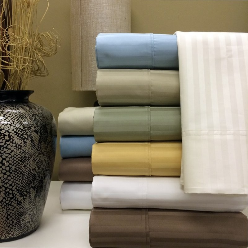 1000 TC Egyptian Cotton Stripe Pillow Cases