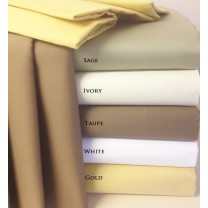"300TC Egyptian Cotton Sheets 22"" Super Deep Pockets"
