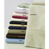 1000 TC Egyptian Cotton Solid Pillow Cases - Standard Size