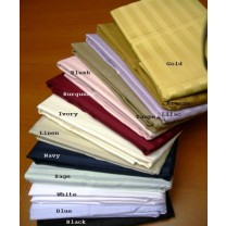 300 TC Egyptian Cotton Stripe Pillow Cases - Standard Size