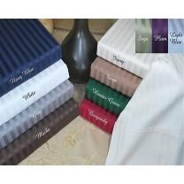 Twin XL 400TC Stripe Duvet Cover Set