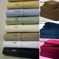 King/Cal King Waterbed Sheets with Pole Attachment 450TC- Solid Colors