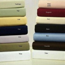 Olympic Queen 300 Thread Count Sateen Solid Sheet Set