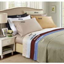 650 TC Egyptian Cotton Solid Pillow Cases - Standard Size