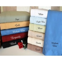 Full Size Sheet Set 600 TC Egyptian Cotton Solid