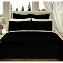 Egyptian Cotton 550TC Comforter Set - Black
