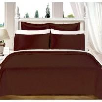 Egyptian Cotton 550TC Comforter Set - Chocolate
