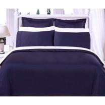 Egyptian Cotton 550TC Comforter Set - Navy Blue