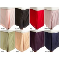 Twin Size Bed Skirts 300 TC - Solid Colors