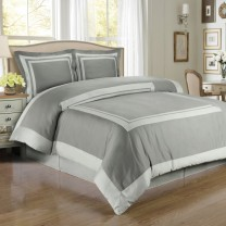 Hotel Duvet Cover Set 100% Egyptian Cotton - Full/Queen