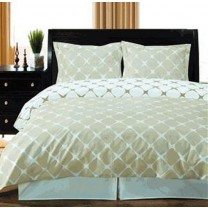 Twin/Twin Extra Long Reversible Duvet Cover Set - Ivory/Linen