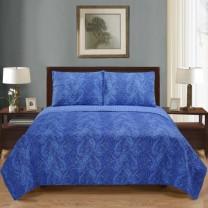 100% Cotton Moroccan Paisley Quilt Set