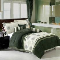 Grace 7 Piece Micro Suede Comforter Set - Sage