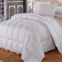 Royal Hotel Dobby Checkered Goose Down Comforter