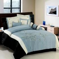 Santa Fe 7 Piece Comforter Set - Blue/Gray