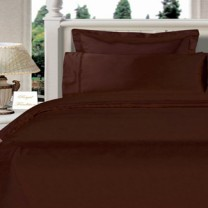 Twin XL Egyptian Cotton Comforter Set - Chocolate