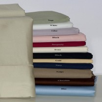 550 TC Egyptian Cotton Solid Pillow Cases - Standard