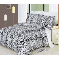 Zebra Duvet Cover Set 100% Egyptian Cotton
