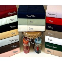 Split King Sheet Set 300 TC Egyptian Cotton - Solid Colors
