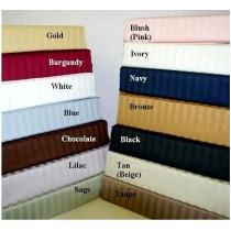 Egyptian Cotton Stripe Duvet Set - 600 Thread Count - King/Cal-King
