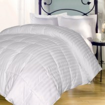 Full/Queen Stripe Down Alternative Comforter - 77 Ounces of Fill