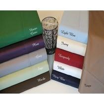 Twin Size Duvet Cover Set 400 TC - Solid Colors