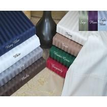 Split King Sheet Set 400 TC Egyptian Cotton - Stripes