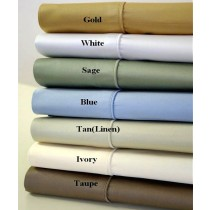1000 TC Egyptian Cotton Solid Sheet Set - King Size