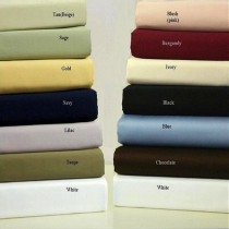 600 TC Egyptian Cotton Solid Sheet Set - Queen Size