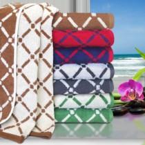 Reversible Diamond Cotton 2PC Bath Sheet Set