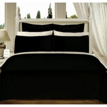 Egyptian Cotton 550TC Comforter Set - Black