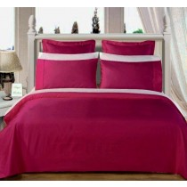 Egyptian Cotton 550TC Comforter Set - Burgundy