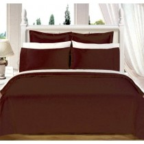 Egyptian Cotton 550TC Comforter Set - Chocolate