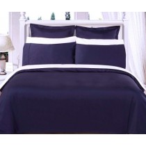 Egyptian Cotton 550TC Comforter Set - Navy Blue